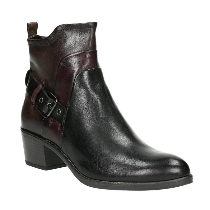 Dámská kotníčková obuv s přezkou bata, černá, 696-6651 - 13