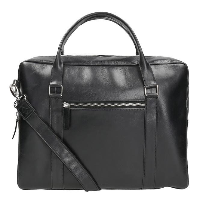 Černá kožená taška royal-republiq, černá, 964-6051 - 16
