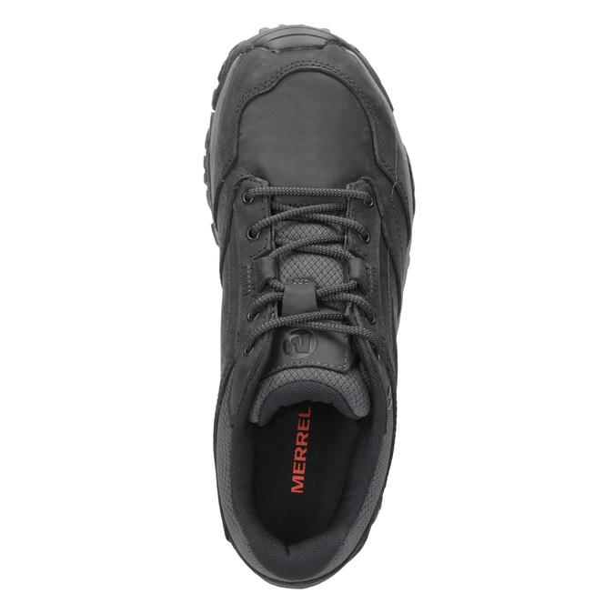 Pánská kožená obuv v Outdoor stylu merrell, černá, 806-6561 - 15