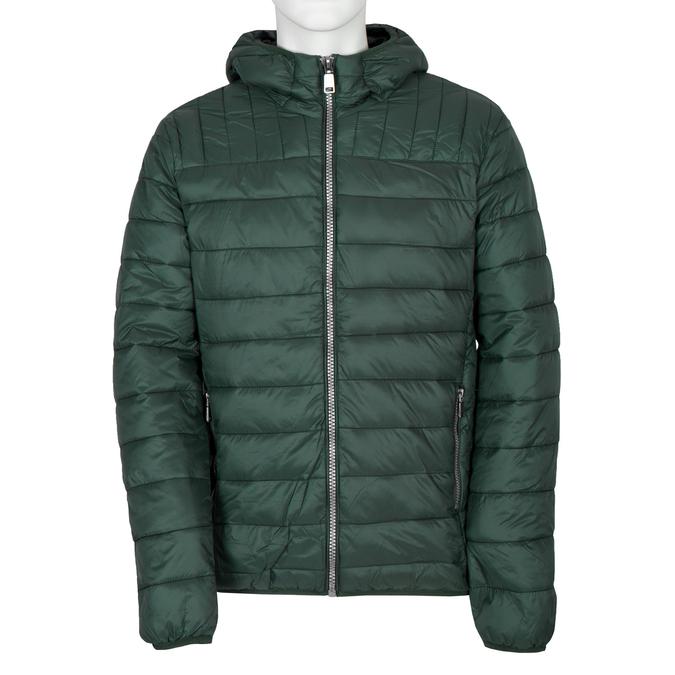 Pánská prošívaná bunda s kapucí bata, zelená, 979-7143 - 13