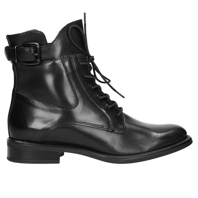 Kožená dámská kotníčková obuv bata, černá, 596-6680 - 26