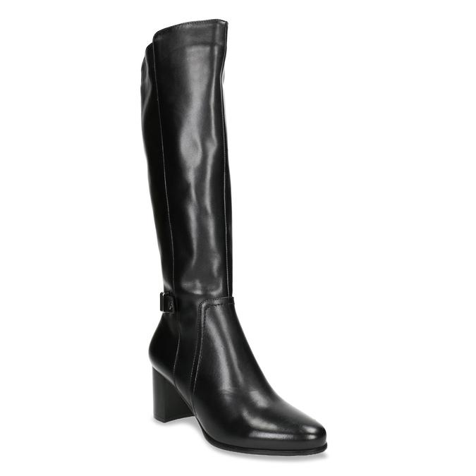 Kozačky na stabilním podpatku bata, černá, 694-6638 - 13