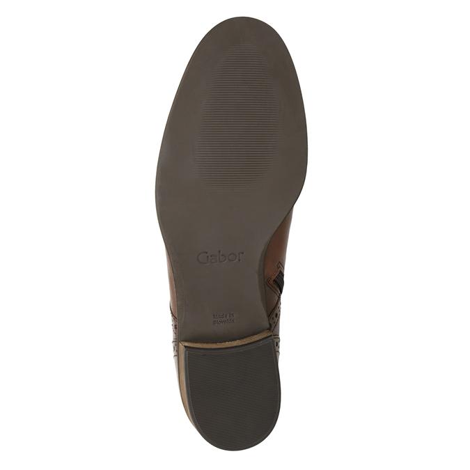 Kožená dámská kotníčková obuv gabor, hnědá, 526-3038 - 17