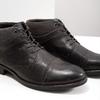 Kožená kotníčková obuv se strukturou bata, šedá, 826-2616 - 14