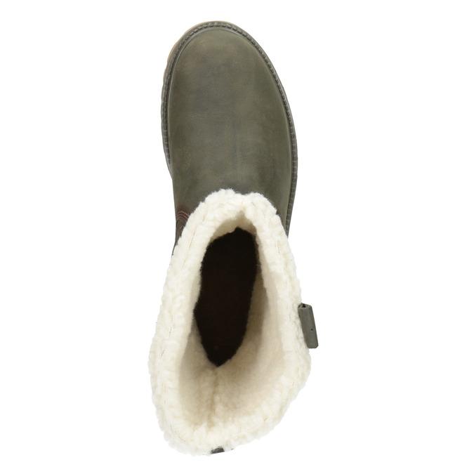 Dámská zimní obuv s kožíškem weinbrenner, khaki, 594-2455 - 15