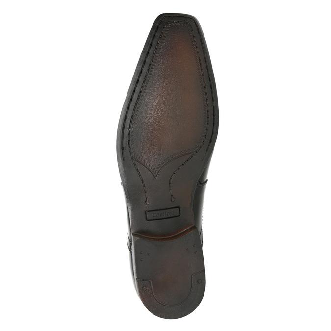 Lakované pánské polobotky bata, černá, 821-6601 - 17