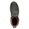 Pánská kožená obuv s výraznou podešví weinbrenner, šedá, 896-2702 - 15