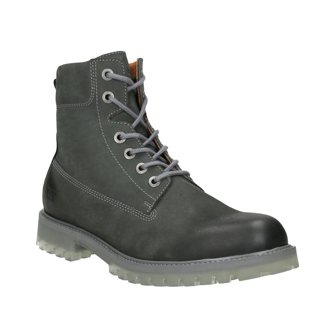 Pánská kožená obuv s výraznou podešví weinbrenner, šedá, 896-2702 - 13
