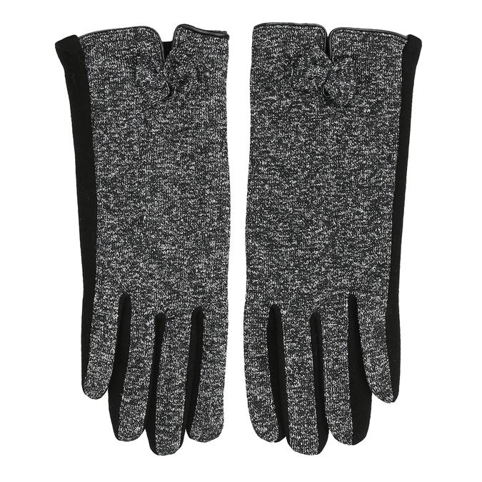 Dámské rukavice s mašličkou bata, černá, 909-6615 - 26