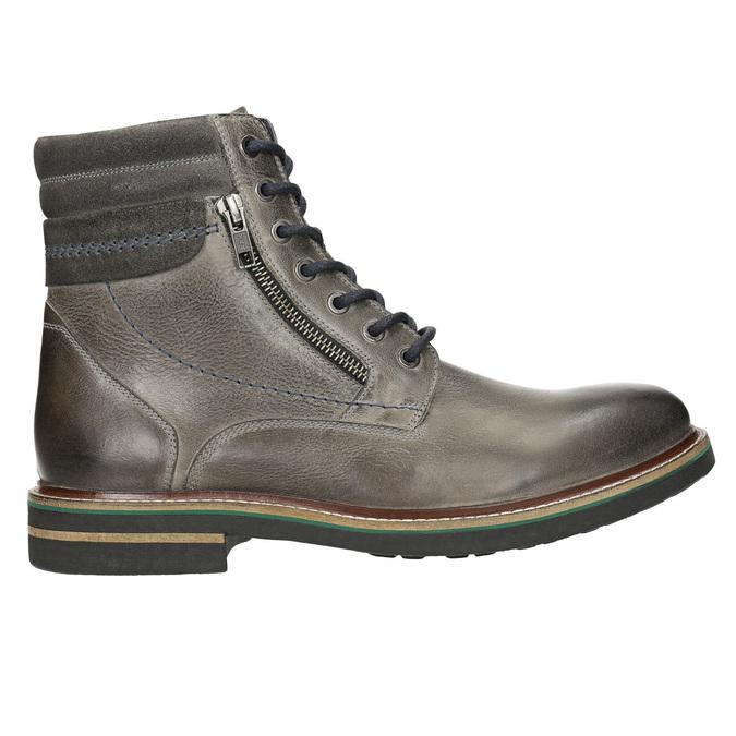Kožená kotníčková obuv bata, šedá, 896-2686 - 15