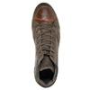 Kožené kotníčkové tenisky bata, hnědá, 846-4644 - 15