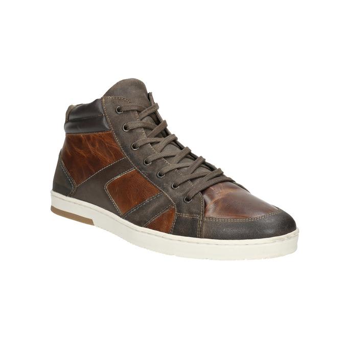 Kožené kotníčkové tenisky bata, hnědá, 846-4644 - 13