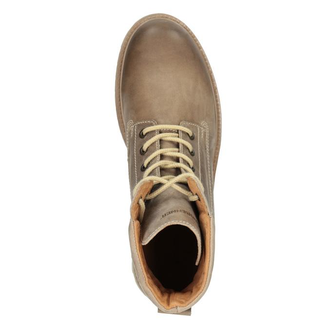 Hnědá kožená kotníčková obuv weinbrenner, 896-8702 - 15
