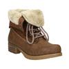 Kotníčková obuv s kožíškem bata, hnědá, 591-4618 - 13