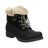 Kotníčková obuv s kožíškem bata, černá, 591-6618 - 13