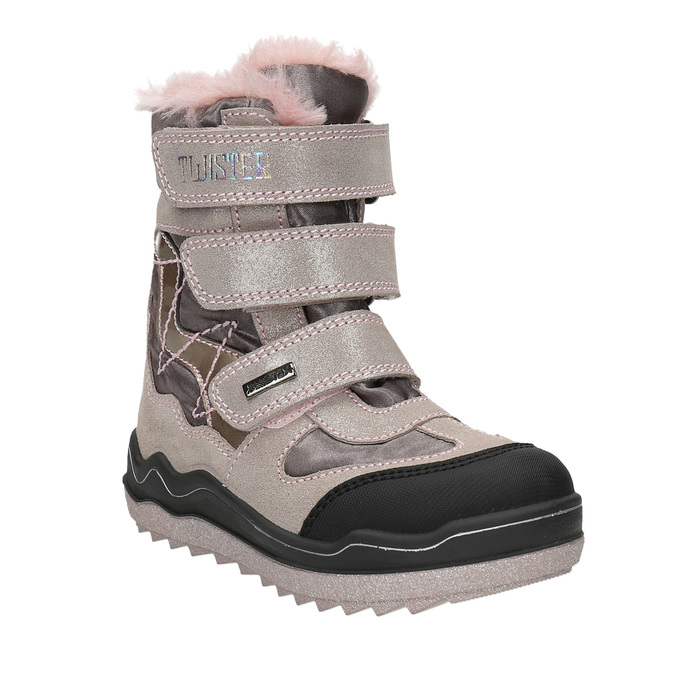 Růžová dívčí zimní obuv mini-b, červená, 299-5613 - 13