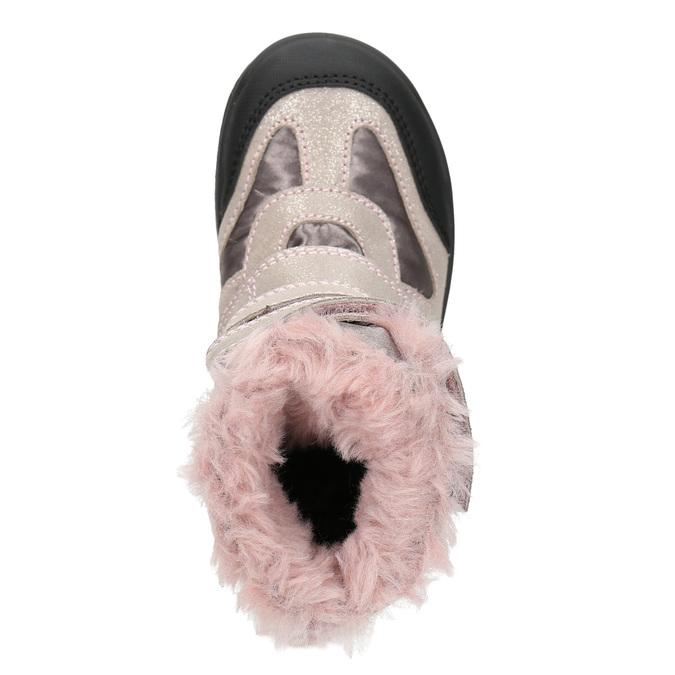 Růžová dívčí zimní obuv mini-b, červená, 299-5613 - 26