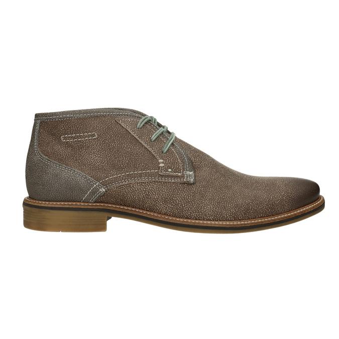 Kotníčková pánská obuv s prošíváním bata, hnědá, 826-4920 - 26
