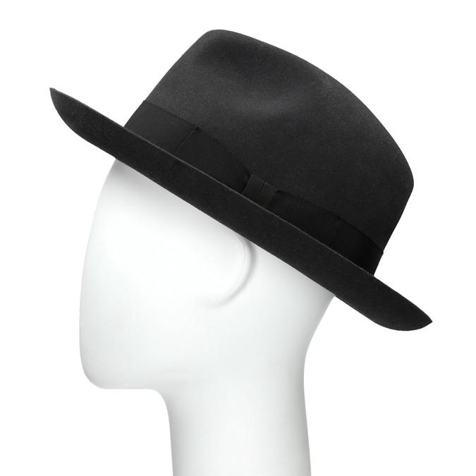 Černý pánský klobouk tonak, šedá, 909-2646 - 26