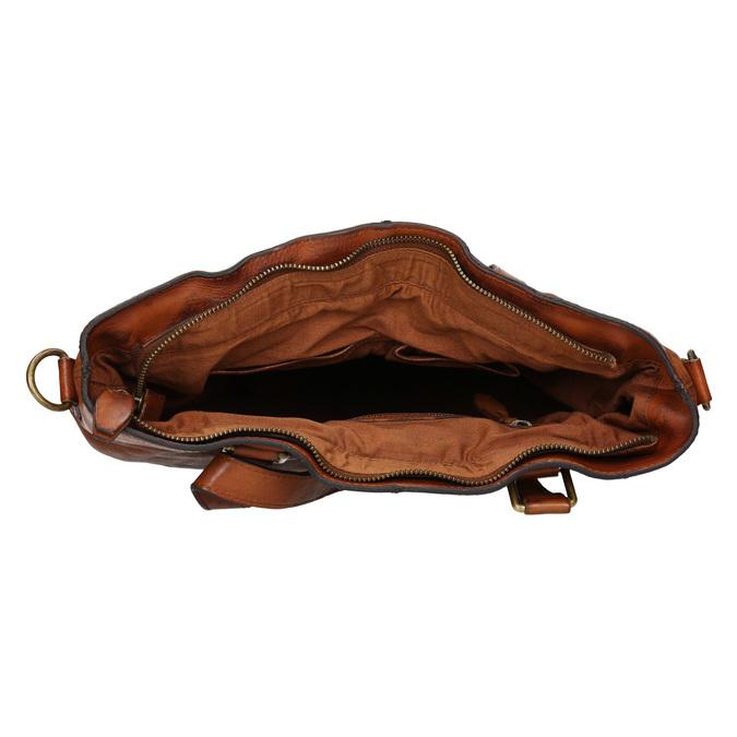 Kožená dámská kabelka bata, hnědá, 964-3245 - 15