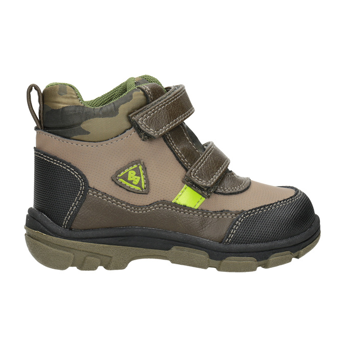 Dětská zimní obuv na suché zipy bubblegummers, hnědá, 111-4623 - 26