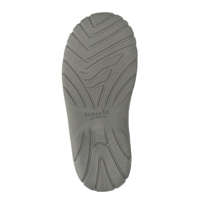 Kotníčková kožená dívčí obuv superfit, šedá, 123-2035 - 17
