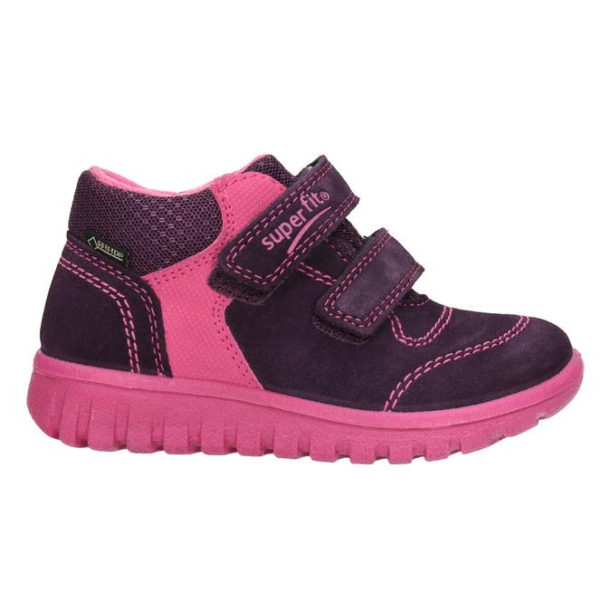 Kožená dětská kotníčková obuv superfit, fialová, 123-5036 - 26