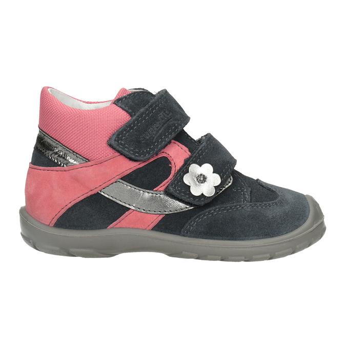 Kotníčková kožená dívčí obuv superfit, šedá, 123-2035 - 26