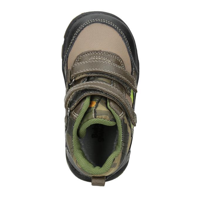 Dětská zimní obuv na suché zipy bubblegummers, hnědá, 111-4623 - 15