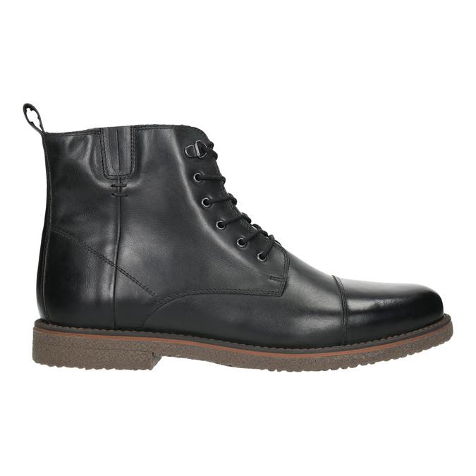 Kožená kotníčková obuv se zateplením bata, černá, 896-6662 - 15