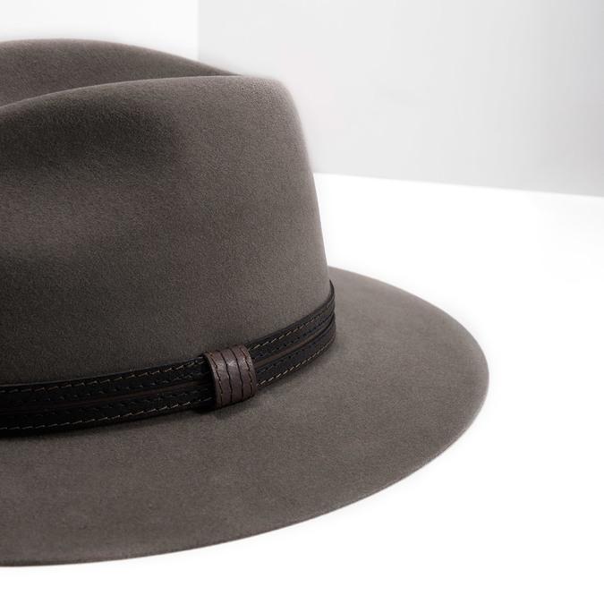 Pánský klobouk z králičí srsti tonak, hnědá, 909-3650 - 14