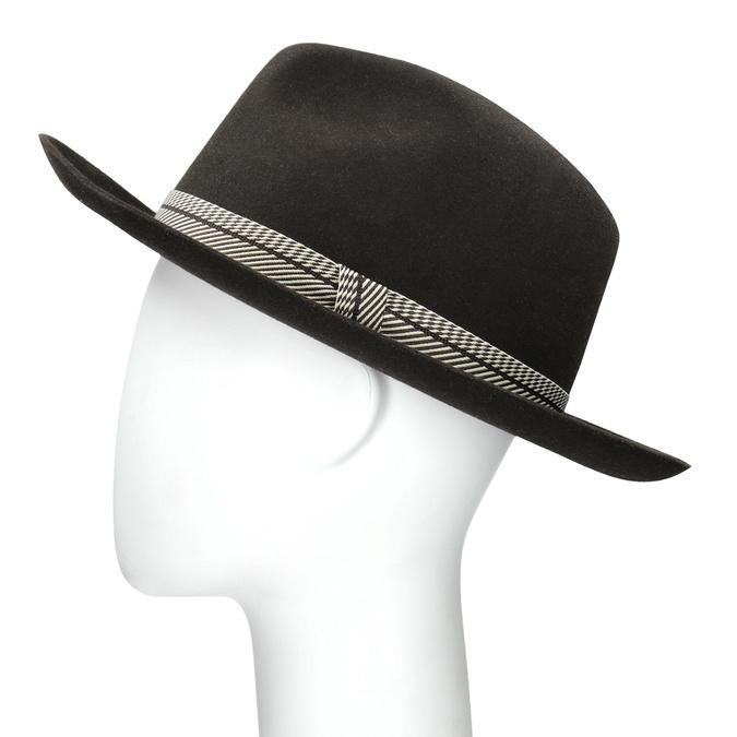 Tmavě hnědý pánský klobouk tonak, hnědá, 909-4654 - 26