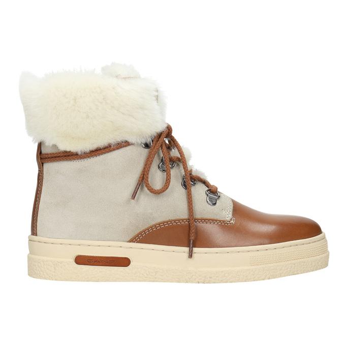 Dámská zimní obuv s kožíškem gant, béžová, 526-8051 - 15