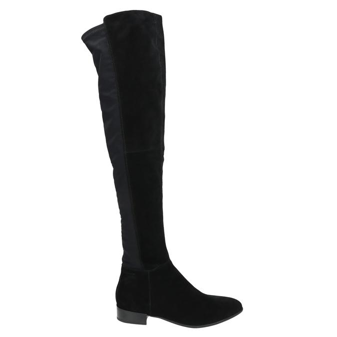 Dámské kozačky nad kolena vagabond, černá, 593-6016 - 15