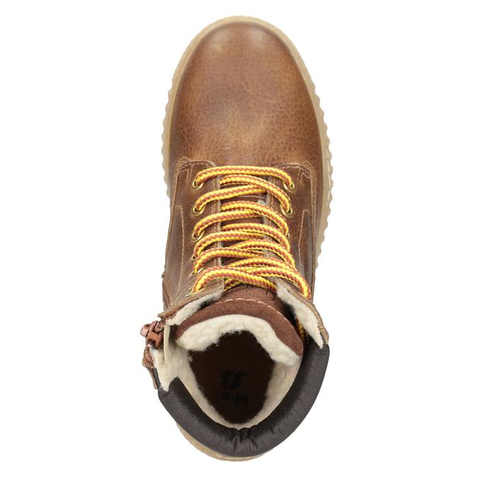 Hnědá dětská zimní obuv mini-b, hnědá, 496-4620 - 15