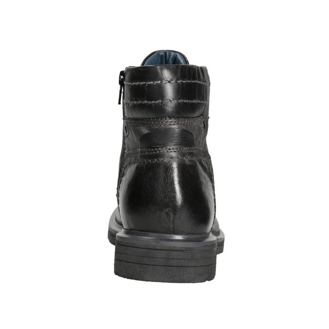 Kožená pánská zimní obuv bata, šedá, 896-2682 - 16