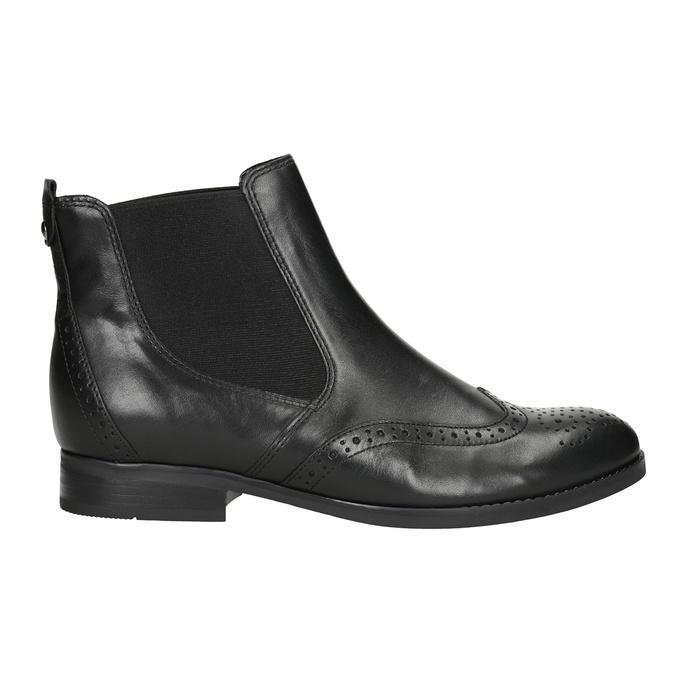 Kožené Chelsea Boots s Brogue zdobením gabor, černá, 514-6034 - 26
