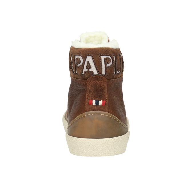 Pánská kožená zimní obuv napapijri, hnědá, 896-3042 - 17