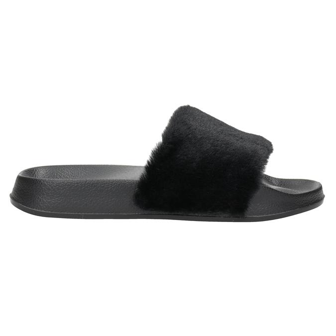 Dámské černé pantofle north-star, černá, 579-6624 - 26