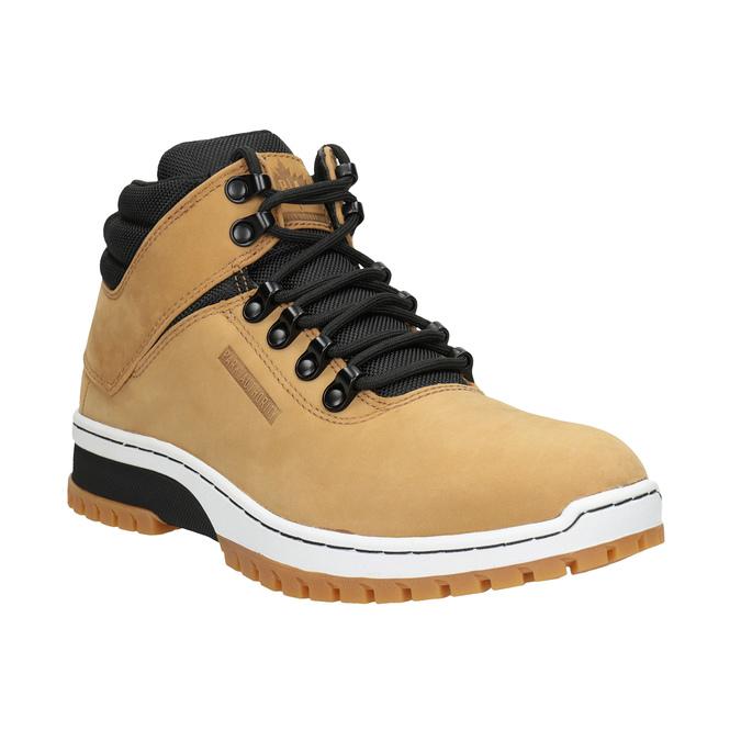 Pánská kožená kotníčková obuv k1x, hnědá, 806-3542 - 13