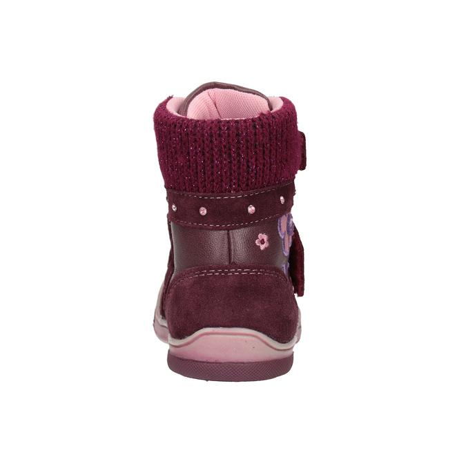 Kožená dětská zimní obuv bubblegummers, červená, 124-5602 - 16