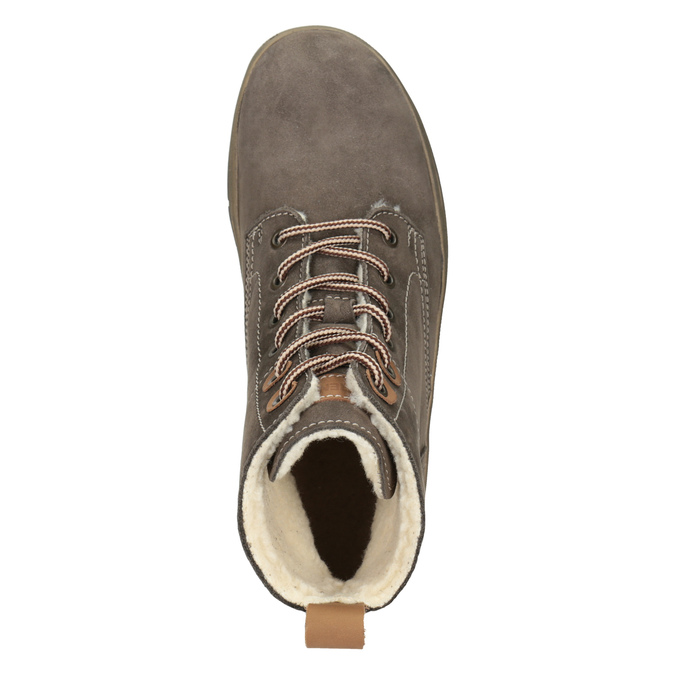 Kožená dámská zimní obuv weinbrenner, hnědá, 596-4666 - 15
