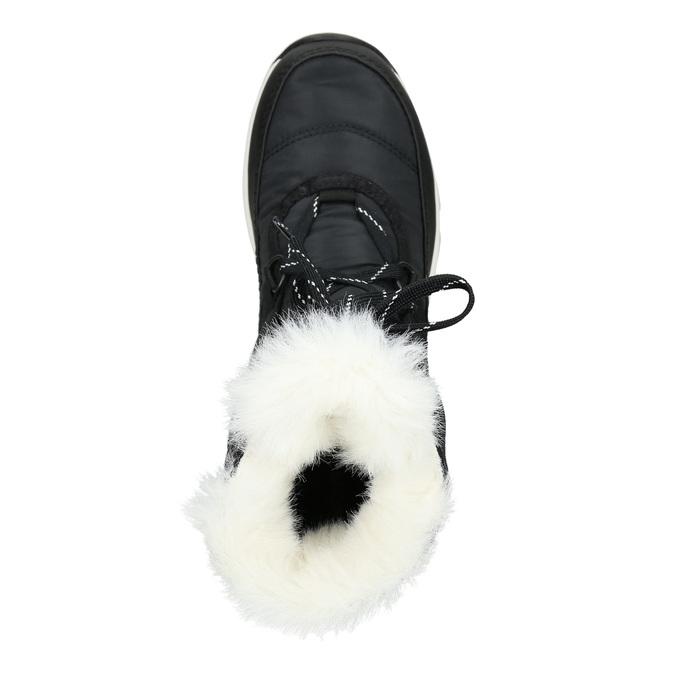 Černé dámské sněhule s kožíškem sorel, černá, 699-6059 - 15