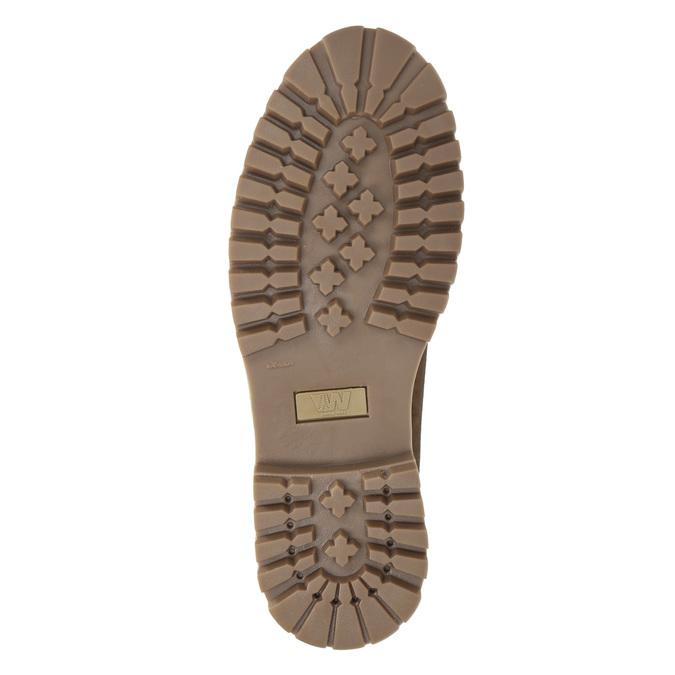 Kotníčková pánská obuv s kožíškem weinbrenner, hnědá, 896-4670 - 17
