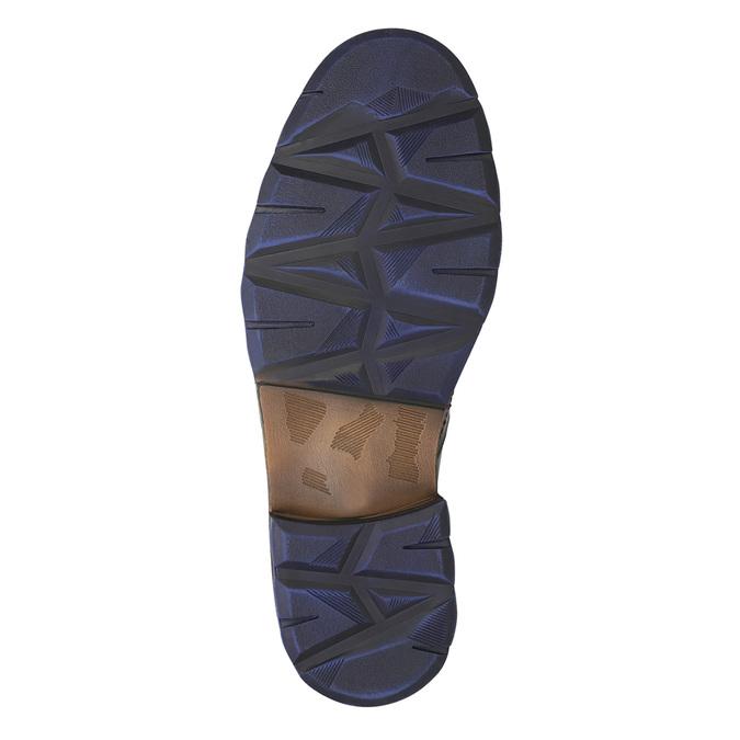 Kožená obuv s modrými detaily bata, šedá, 896-2679 - 19