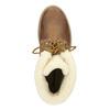 Kotníčková pánská obuv s kožíškem weinbrenner, hnědá, 896-4670 - 15