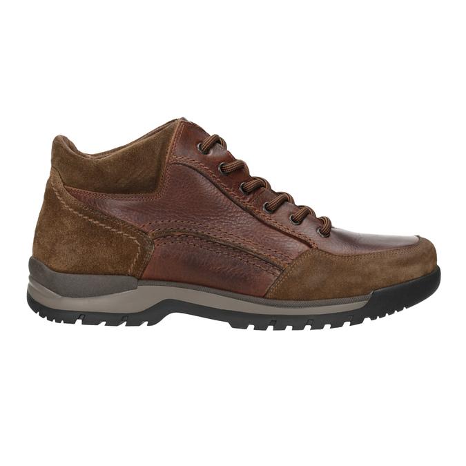 Kožená kotníčková obuv pánská bata, hnědá, 896-3705 - 26