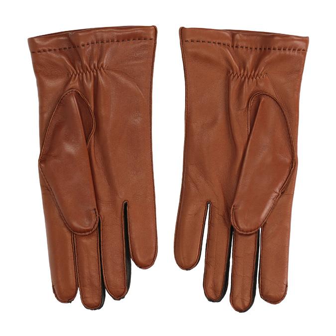Pánské kožené rukavice hnědé junek, hnědá, 924-3031 - 16