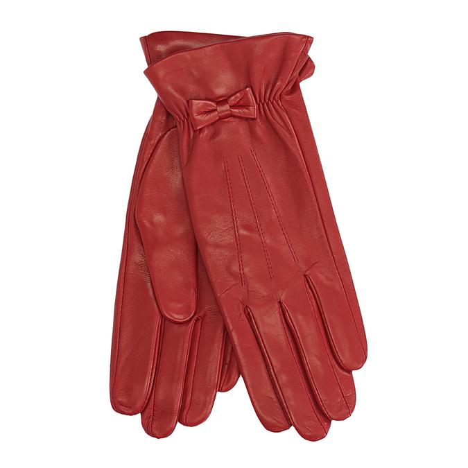Červené kožené rukavice junek, červená, 924-5011 - 13