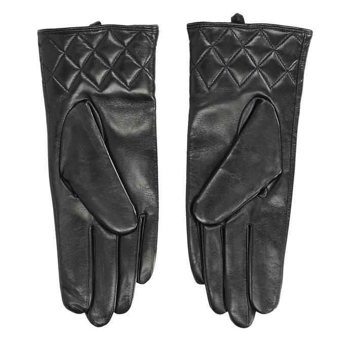 Dámské kožené rukavice černé bata, černá, 904-6131 - 16